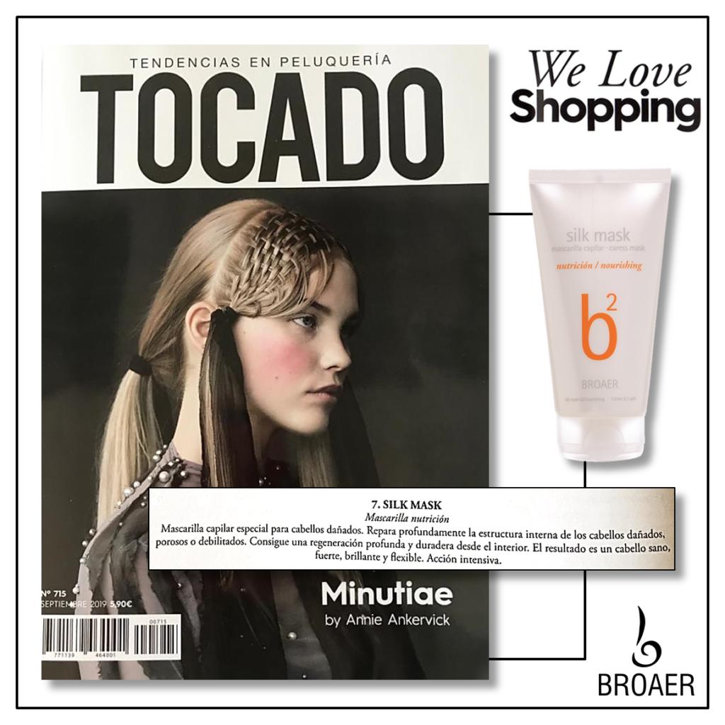 La revista Tocado recomienda nuestra mascarilla SILK MASK  para nutrir e hidratar el cabello.